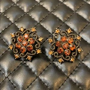 Gorgeous Vintage Bronze Victorian Revival Earrings